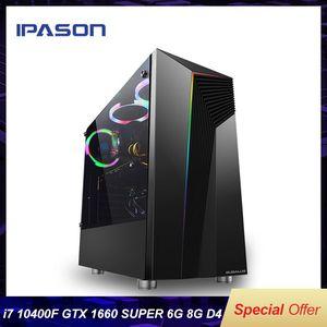 IPASON Explorateur Intel Core i5 Gen 10 de Hexa Cores Gtx1660 super 6G carte graphique haute performance Diy Gaming Bureau
