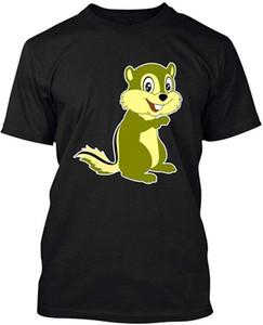 Chipmunk рубашки, взрослых с коротким рукавом футболки подарка Новый мужской Смешной Топы футболочку