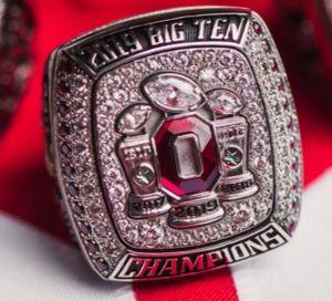 2020 wholesale Ohio State 2019 BucKeyEs Football National Championship Ring Souvenir Men Fan Gift Drop Shipping