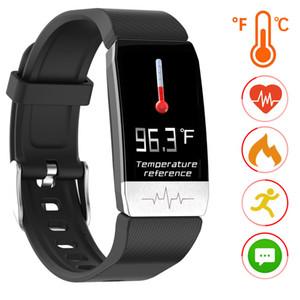 سوار الذكية مع ميزان الحرارة الرقمي ساعة للياقة البدنية المقتفي Inteligente القلب معدل ضغط الدم النشاط اختبار تعقب للمرأة والرجل
