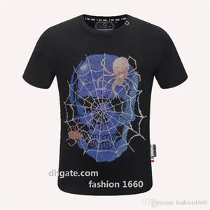 2020 الصيف قميص تي أزياء الرجال بارد الجماجم مطبوعة بأكمام قصيرة تيز بلايز تي شيرت الملابس