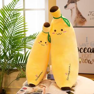 1pcs Soft Banana Plush Pillow Cushion Yellow Cute Banana Cartoon Fruit Plush Doll Toy Birthday Present To Children Friends