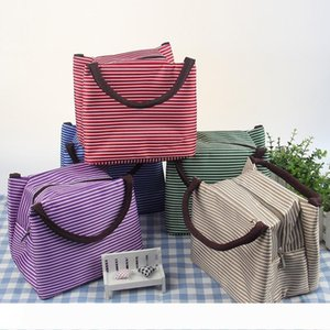 Wholesales 7 Colors 22X15.5X17cm Thermal Lunch Box Bags Dinner Plate Sets Handbags Travel Gadgets Closet Organizer Kitchen Accessories