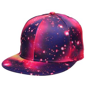 Хип-хоп Caps Прохладный танец с плоским верхом Hat Lady Star Sky Summer Открытый шлемов Sun Flat краёв Baseball Cap Регулируемая ВС-заливка шапки LJJA1391