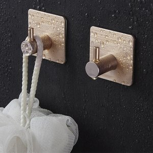 Aluminum Self Adhesive Home Kitchen Wall Door Hook Key Holder Rack Towel Hanger Bathroom Rack Hooks