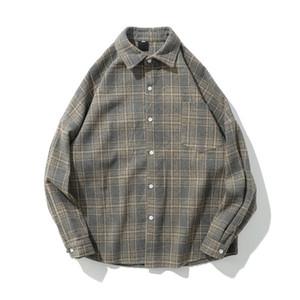 Woolen Thick Shirt Men Women Turn-down Collar Jacket Outwear Men's Jackets