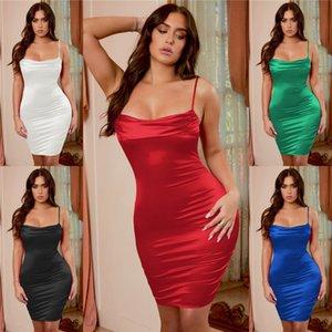 Женщин платья лета планки спагетти Тонкий горошек Женщина Bodycon платье Повседневный Красочные Sexy Ladies платье