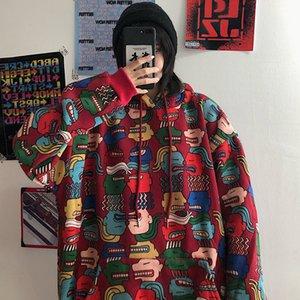 HOUZHOU cappuccio Donne Harajuku Streetwear con cappuccio inverno più velluto vestiti delle donne allentato coreano estetica oversize con cappuccio