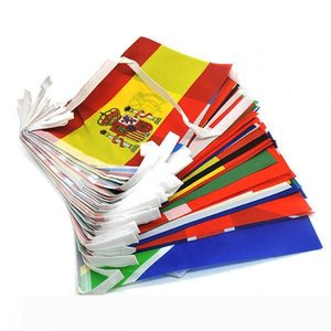 International String Flag Set 100 50 Country Polyester Bunting Flag Small Countries Banner Flags Outdoor Supermarket Party Decoration
