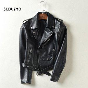SEDUTMO 2020 Spring Plus Size 3XL Faux Leather Jacket Women Black Punk Coat Autumn Biker Jacket Motorcycle Outerwear ED144