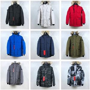 Designer Top Quality Casacos Jacket PBI Parka Expedição FUSION FIT Canadá Homens Casacos de inverno para baixo Parkas # 08