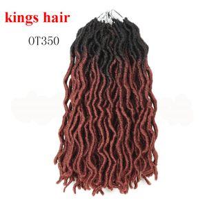 "Faux ondulado Loc ganchillo trenzas de pelo 12"" 18strand / paquete corto gitana Locs ganchillo Synthetic Hair Braiding"