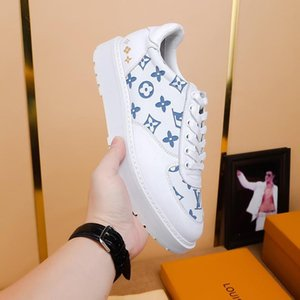 2020d customized version of luxury design printed high-quality leather sneakers wild mens casual shoes mens banquet shoes Size: 38-45