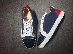 xshfbcl NEW progettista Sneakers Red Bottom shoe Low Cut Suede spike lusso Shoes For Men and Women Shoes Party Wedding Leather Sneakers