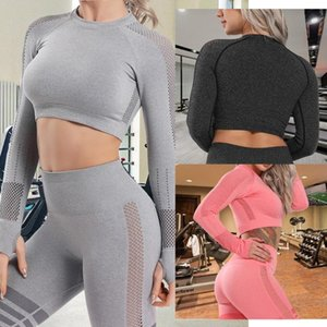 Women Gym Yoga Tops Push Up Yoga Shirts Long Sleeve Workout Tops Fitness Running Sport Shirts Training Sportswear Sexy