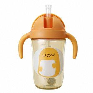 Wei Séoul Coupe enfants LUN avec paille Gobelet verre bébé PPSU infantile Sippy boisson maternelle verre pzC8 #