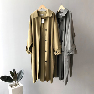 2020 Autumn New Women Long Trench Coat Turn Down Collar Women Long Sleeve Trench Coat With Belt Casaco Feminino Loose