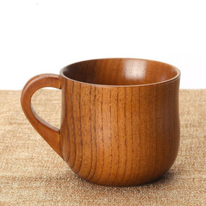 50pcs lot Chinese Style Natural Jujube Wooden Tea Cups Wooden Handgrip Cups Drinkware Kitchen Accessories 7.5*6.8cm SN1308