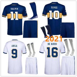 hombres kit 2020 Boca Juniors fútbol Jersey casa Fuera 2021 Boca Juniors PEREZ DE ROSSI TEVEZ PAVON JRS camiseta de fútbol deportes Conjunto completo de correo