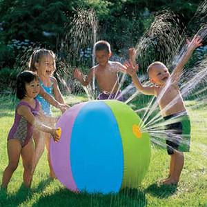 75CM estiva all'aperto d'acqua gonfiabile Spray sfera Toy Fun Water Polo Lawn gonfiabile spruzzatore sfera Piscina Gioca giocattolo dell'acqua di estate