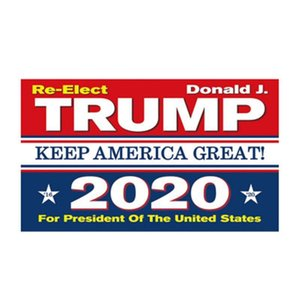 Самые дешевые 90 * 150см Trump 2020 выборов Флагов Keep America Great флаг Double Side Printed Polyester декор Баннер для президента США