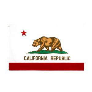 Hanging decorative flags 90*150cm us usa state bear california flag
