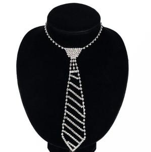 Einzigartige Frauen SchmucksachenRhinestonezircon-Krawatte Lange Halskette Fliege voller Diamant-Ketten-Halskette für Frauen Hochzeit Schmuck-Geschenk