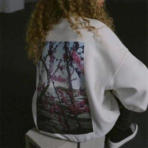 가을 겨울 새로운 연인 전체 지퍼 카디건 카모 인쇄 Ooded 스웨터 남성면 고등학교 품질 사막 카모 테리 느슨한 Oodies # 356