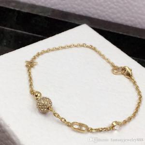 Super hot classic letter ball diamond designer bracelet designer jewelry women bracelets