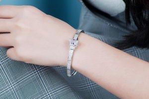Animal Diamond Bangle Female Leopard Head Bangles Women Vintage Charms Valentine'S Day Fine Jewelry On Sale designer bracelet Designer Brace