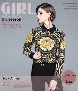 Fashion Women's Shirts & Blouses,Lady and Girl's Beauty Printingg Tops,Nice Lapel Neck Long Sleeve Shirt