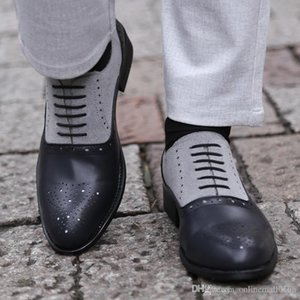 Men Pointed Toe Dress Shoes Handmade Dress Leather Oxfords Formal Shoes For Male Business Shoes