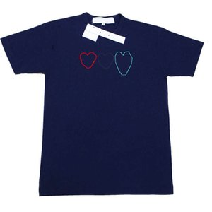 Men Women T Shirt Fashion Summer New T shirts Tees Shirt Short Sleeve Printed Hearts Embroidey Funny Top Tees