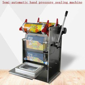 2020 новый Hand Press Square Box упаковочная машина из нержавеющей стали Электрический Полуавтоматическая Fast Food Ready Tray запайки