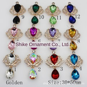 Hot gold alloy diamond buckle crown pendant DIY hair Pendant DIY accessories accessories mobile phone decoration