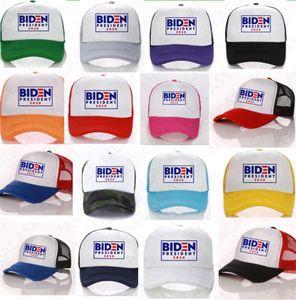 BIDEN President 2020 Ball Hat USA Letters Print Baseball Caps Summer Mesh Patchwork Sun Hats Visor Cap Outdoor Sports Peaked Hats New D7610