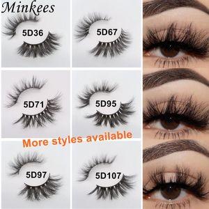 Mink Eyelashes Wholesale 3D 5D False Lashes Bulk Handmade Dramatic Cruelty Free Soft Thick Full Strip Eyelash 10pairs Minkees