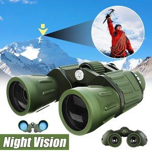 Sgodde 60x50 Gece Görüş Hd Dürbünler Askeri Yakınlaştırma Güçlü Ayarı Açık Av Optik Astronomi Teleskop T190627