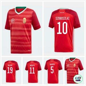 2020 21 maillot de foot Hongrie Accueil Dominik Szoboszlai Willi Orban Tamas Kadar 2020 Hongrie jersey de occer à domicile