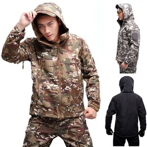 Tactical Jacket Multicam Hiking Hunting Camping Softshell Clothes Waterproof Camouflage Men Windproof Climbing Cs Coats