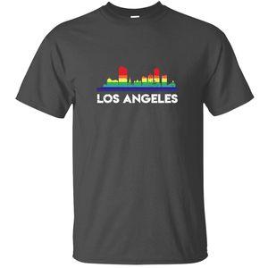 Lgbt Drapeau arc-en-shirt lgbt Los Angeles T-shirt Homme Hipster classique Homme Comical T-shirts Taille Plus S-5XL Hip Hop