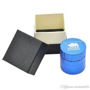 40mm 52mm Grinder Cali Crusher Homegrown Herb Gewürz Tabak-Kraut-Schleifer für Raucher 4 Stück Aluminium Grinder mit Geschenkkarton