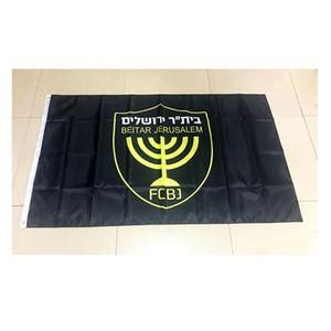 Israel Neu Beitar Jerusalem FC All Black Flag 150x90cm Polyester Sport Team Club Inddor Verwendung im Freien Freies Verschiffen