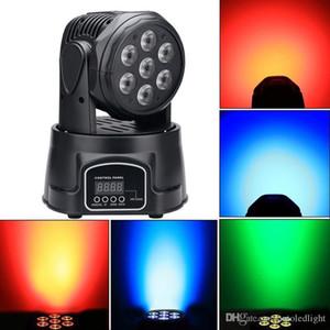 7* 12W 4 in 1 High Brightness RGBW MINI LED Moving Head Wash Light,Stage Moving Head Light