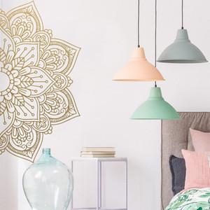 Wall Sticker Mandala Mezza Home Decor Vinilo removibile Meditación Yoga Pared Gris