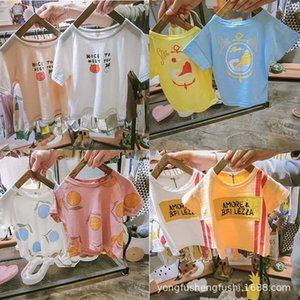 2020 nueva T-Shir de manga corta t tong camiseta redonda niños y niñas de Xu hijos de los hijos del cuello Varios lotes de manga corta