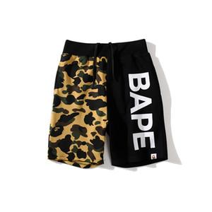 Été nouvel amant noir vert Camo Splice Shorts Casual Hommes Femmes Lettre Imprimer en vrac Hip Hop Shorts Plage