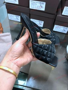 xshfbcl high quality 2020 Weave Leather Slippers Women Peep Toe Strange High Heel Shoes Woman Sexy Gladiator Sandals