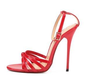 Hey Sandali Scarpe Sexy sottile tacco tacchi alti peep-toe dei sandali delle donne di Si Mey donne Wedding Night Large Size 50