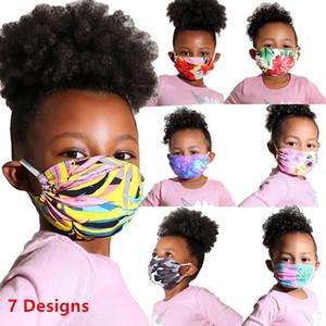 Дети Cute Face Mask Дети Детские Роскошная Washable Хлопок мультфильм маска Цветочные печати пыле Защитная маска 10шт AHA253